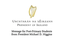 Message from the President of Ireland